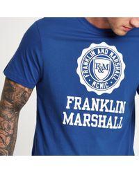 River Island - Franklin And Marshall Logo T-shirt - Lyst