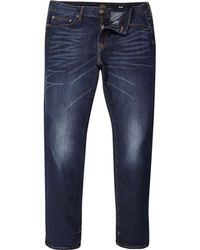 River Island - Big And Tall Dark Blue Dylan Slim Fit Jeans - Lyst