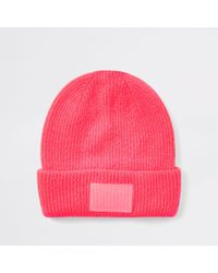 River Island - Bright Beanie Hat - Lyst