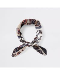 River Island - And Cream Bandana - Lyst