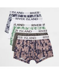 River Island | Navy Pineapple Print Hipster Multipack Navy Pineapple Print Hipster Multipack | Lyst
