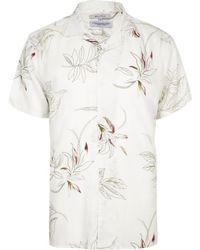 River Island - White Bellfield Floral Shirt White Bellfield Floral Shirt - Lyst