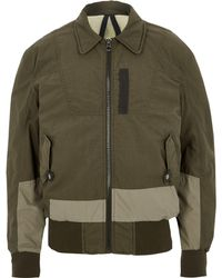 River Island - Dark Khaki Green Design Forum Aviator Jacket - Lyst