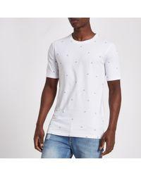 River Island - Minimum White Print T-shirt - Lyst