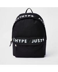 Lyst - Hype Script Drawstring Backpack in Black for Men bcbacaebd5dff