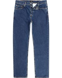 River Island   Dark Blue Bobby Standard Jeans Dark Blue Bobby Standard Jeans   Lyst