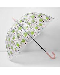River Island - Cactus Print Dome Umbrella - Lyst