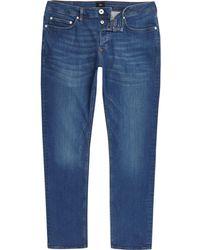 River Island - Big And Tall Blue Seth Slim Fit Jeans - Lyst