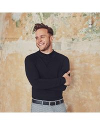 River Island - Olly Murs Black Muscle Fit Polo Shirt - Lyst