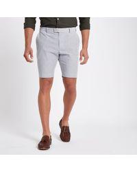 River Island - Stripe Skinny Fit Shorts - Lyst
