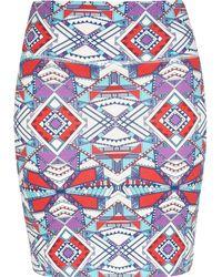 River Island - Geometric Aztec Print Mini Skirt - Lyst