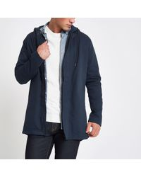 0eb4a26ecd River Island Navy Only & Sons Light Hooded Jacket in Blue for Men - Lyst