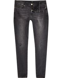 River Island - Black Ollie Skinny Spray On Jeans - Lyst