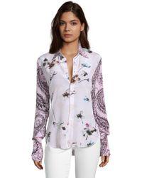 Robert Graham - Gabriela Mixed Floral Print Silk Shirt - Lyst
