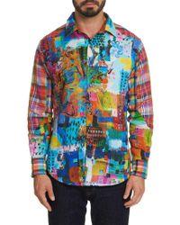 Robert Graham - Urban Dreams Abstract Print Linen Shirt - Lyst