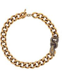 Roberto Cavalli - Snake Chain Necklace - Lyst