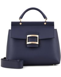 Roger Vivier - Small Viv' Cabas In Leather - Lyst
