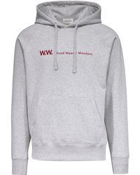 WOOD WOOD - Raffi Knitted Hoodie Sweatshirt - Lyst