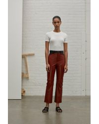 Rosetta Getty - Color Blocked Leather Pant - Lyst
