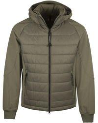 C P Company - Goggle Hood Padded Jacket - Lyst