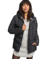 Roxy - Water Repellent Hooded Puffer Jacket - Lyst