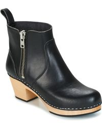 Swedish Hasbeens - Zip It Emy Low Ankle Boots - Lyst