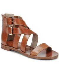 8e8969dbcb32 Michael Kors Birdie Lace Up Gladiator Sandals in Brown - Lyst