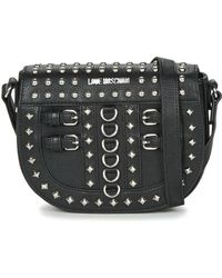 8f58944d79c6 Love Moschino Quilted-Leather Cross-Body Bag in Black - Lyst
