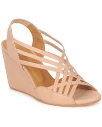 c979773ce50c UGG Lucianna Silk Wedge Sandals in Pink - Lyst
