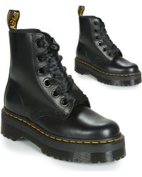 exklusives Sortiment hohes Ansehen neuer Stil & Luxus Dr. Martens Dr Martenes Brienna Wedge Boots in Black - Lyst