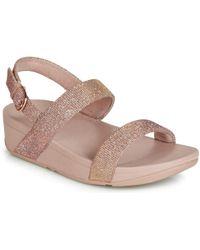 44ca5622de51 Fitflop - Lottie Glitzy Backstrap Sandal Women s Mules   Casual Shoes In  Pink - Lyst