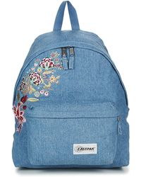 aef0e0e30c2 Eastpak Padded Pak'r Leather Backpack - Lyst