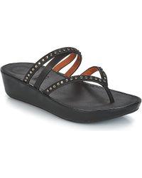 Fitflop - Linny Criss Cross Toe-thong Women's Flip Flops / Sandals (shoes) In Black - Lyst