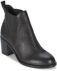 a27e1895e9df Sigerson Morrison Vesta Western Suede Ankle Boots in Black - Lyst