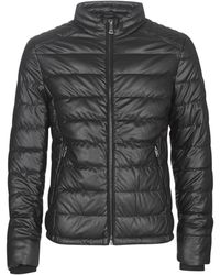 Guess - Stretch Pu Quilted Leather Jacket - Lyst