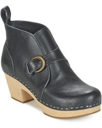 Swedish Hasbeens - Petra Low Ankle Boots - Lyst
