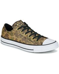 eb29d1689604 Converse Chuck Taylor All Star Ox Sparkly Lurex Trainers in Natural ...