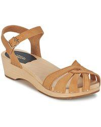 Swedish Hasbeens - Cross Strap Sandals - Lyst