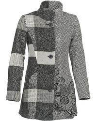 Desigual - Unale Woman Woven Overcoat - Lyst