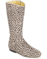 French Sole - Patch High Boots - Lyst