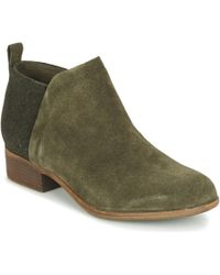 TOMS Deia Women's Mid Boots In Green