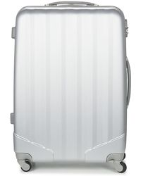 David Jones - Chauvetta 110l Women's Hard Suitcase In Silver - Lyst