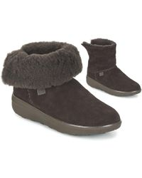 6f37de9209bac7 Fitflop - Supercush Mukloaff Shorty Suede Women s Low Ankle Boots In Brown  - Lyst