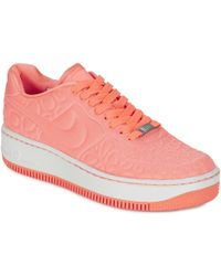 Nike - Air Force 1 Upstep Plush W Women s Shoes (trainers) In Pink - 880e22b2f