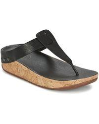Fitflop - Ibiza Cork Women's Flip Flops / Sandals (shoes) In Black - Lyst