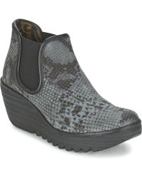 Fly London - Yat Low Ankle Boots - Lyst
