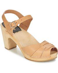 Swedish Hasbeens - Peep Toe Super High Sandals - Lyst
