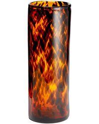 Aerin - Tortoise Glass Cylinder Vase - Lyst