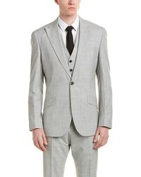 Reiss - 3pc Garda Classic Fit Wool Suit With Flat Front Pant - Lyst