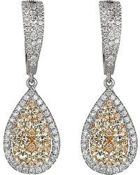 Effy - Fine Jewellery 14k Two-tone 2.70 Ct. Tw. Diamond Drop Earrings - Lyst